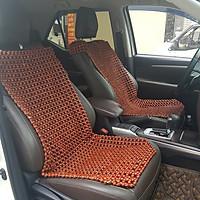 Đệm hạt gỗ Nhãn tự nhiên tựa lưng massage lót ghế ô tô - Kích thước (D X R): 1,1 X 0,45 (M) - Trọng lượng: 2,2Kg