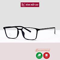 Gọng kính cận nam nữ LILYEYEWEAR mắt vuông nhựa cứng dễ đeo phụ kiện thời trang 81881