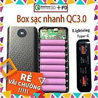 Box sạc nhanh QC 3.0 +PD box sạc dự phòng 8 cell 18650 loại tốt