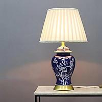 Đèn bàn gốm phòng khách - đèn ngủ để bàn phong cách quý tộc MB8312