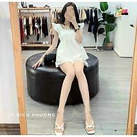 Set bộ đồ nữ hè quần đùi áo 2 dây cánh tiên 2 màu xinh xắn
