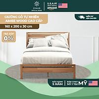 Giường Ngủ Zinus Gỗ Tự Nhiên Sang Trọng Aimee Wood Platform Bed Frame