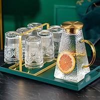 Bộ 6 Cốc Thủy Tinh Uống Rượu Vang Viền Dát Vàng Mang Phong Cách Tân Cổ điển Tạo Lên Vẻ sang Trọng Cho Ngôi Nhà Bạn-Chịu Nhiệt Cực Tốt Dung Tích 300ml