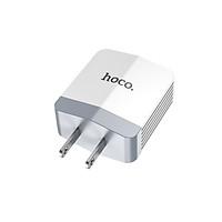 Củ Sạc Nhanh HOCO C13B 2 Cổng USB -Tặng Cáp Sạc Cho Chân Lightning- Hàng Chính Hãng