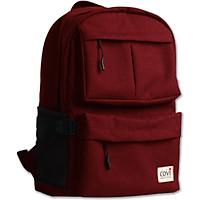 Túi vải may Covi - Balo thời trang nam phối túi hộp màu đỏ vải canvas