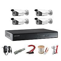 Trọn Bộ 4 Camera 2.0MP Hikvision Hồng Ngoại 40 Mét [4 Mắt Camera] - Hàng chính hãng