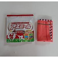 Sữa phát triển chiều cao Asumiru Nhật Bản 180g (vị cacao) - Giúp Tăng Trưởng Chiều Cao Vượt Trội dành cho trẻ từ 3-16 tuổi  – Tặng khăn mặt vải cotton mềm mịn.