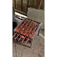 Bếp nướng than hoa gia đình nướng thịt chả tự động bằng mô tơ tặng kèm 5 xiên