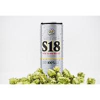 Thùng Bia S18 Silver 24 Lon, 330 ml Lon Cao