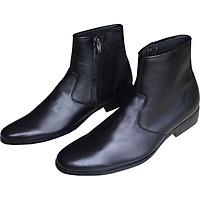 Giày boot nam cao cổ Trường Hải da bò thật nguyên tấm đế cao su không trơn chiều cao đế 3.5cm thời trang nam cao cấp BCC01