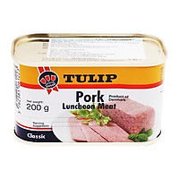 [Chỉ Giao HCM] - Thịt heo hộp Tulip Pork Luncheon Meat - hộp 200gr