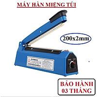 Máy hàn miệng túi nilong dập tay 20cm + 1 thanh dây hàn (Vỏ nhựa xanh)