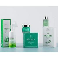 Combo 3 sản phẩm : Kem nám Ric Skin, Rửa mặt Ric Skin và Serum Ric Skin