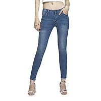 Quần jean nữ xanh biển AAA JEANS dáng skinny lưng...