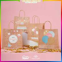Túi giấy Kraft Cao cấp CUTE BIRTHDAY Họa tiết siêu xinh - siêu dễ thương - siêu rẻ