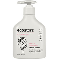 Nước rửa tay hương hoa hồng và hoa phong lữ gốc thực vật Ecostore 250ml