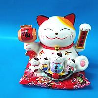 Mèo thần tài bằng sứ xài pin hoặc điện ĐP ĐGD 15023-1