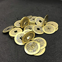 Combo 20 đồng xu phong thủy, chất liệu đồng, đem may mắn, tài lộc, cầu bình an – TMT Collection – SP001136