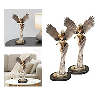 2x Art Redemption Angel Statue Bedroom Office Decoration Ornaments Gifts