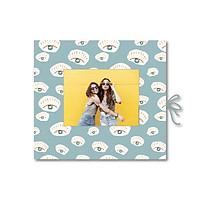 Sổ tay dán ảnh - Crabit Notebuck - Ruột Dot - Eyes - Bìa xanh (19x21cm)