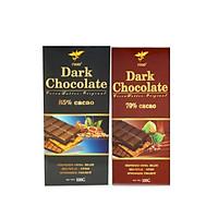 Combo 2 thanh Chocolate đen 70% cacao Figo 100g + Chocolate đen 85% cacao Figo 100g