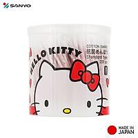 Hộp tăm bông kháng khuẩn Sanyo ( 200 que ) 100% Bông gòn tự nhiên mềm mại - nội địa Nhật Bản