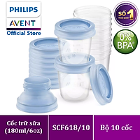 Cốc trữ sữa Philips Avent dung tích 180ml/cốc
