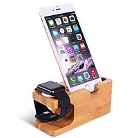 Dock đế sạc gỗ kèm giá đỡ đa năng iPhone, iWatch, Android Aturos Mini - Hàng chính hãng