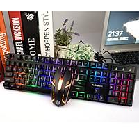 Bộ bàn phím và chuột K-SNAKE KM320 chuyên Game Nele Led 7 màu - Hàng chính hãng