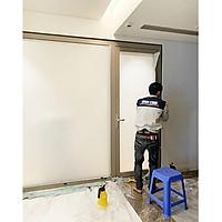 Phim dán kính mờ trang trí cao cấp Anygard Hàn Quốc white matte dùng cho nhà tắm, vách kính tòa nhà