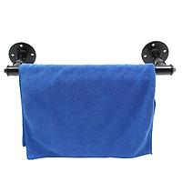 2.5cm/50cm Industrial Steampunk Bath Towel Rail Rack Holder Water Pipe Wall Mounted