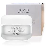 Kem dưỡng trắng da  javin De Seoul Radiance Whitening Cream 50g  Hàn quốc 50g kèm bông trang điểm