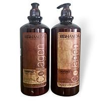 Cặp dầu gội xả phục hồi siêu mượt tóc Collagen Shampoo & Conditioner (Top Haneda) 2000ml