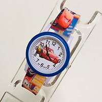 Đồng hồ trẻ em hình ô tô dây silicon dành cho bé trai bé gái - otoxanh