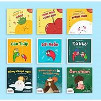 Combo 9 cuốn Ehon - Vương quốc trái cây - Phép so sánh diệu kì - Buồn ngủ ơi là buồn ngủ dành cho bé từ 0 tuổi