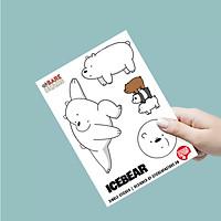Gấu Trắng Icebear - Single Sticker hình dán lẻ We Bare Bears