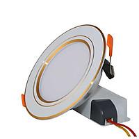 Đèn led âm trần đổi màu 9W Rạng Đông - Viền vàng mã D AT10L DM 110/9w (G)