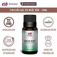Tinh dầu thiên nhiên Bạc Hà Nhật Bản – Essenbee – 20ml - Hỗ trợ thư giãn tinh thần, giảm stress và đau đầu, chống say tàu xe, giúp giảm ho, nghẹt mũi, viêm xoang