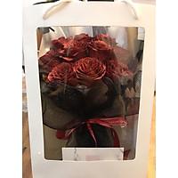 Combo Bó hoa hồng nhũ 10 bông tặng kèm Túi + hiệp như hình