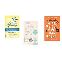 Combo 3 cuốn sách: 10 Câu Nói Vạn Năng + Kỹ Năng Lắng Nghe Trong Giao Tiếp + 11 Bí Quyết Giao Tiếp Để Thành Công