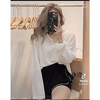 Áo len dài tay thu đông cổ xẻ V 4 màu hồng trắng đen xanh nhẹ nhàng ullzang