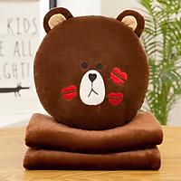 Chăn gối văn phòng đa năng  hình  gấu (CVP05)