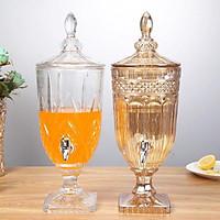 Bình pha lê thủy tinh đựng nước hoa quả rượu bia -5L