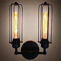 Đèn gắn tường trang trí kiểu công nghiệp 2 đầu hiện đại V97 (Bao gồm bóng đèn)