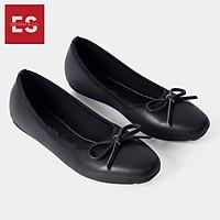 Giày búp bê thời trang Erosska kiểu dáng Hàn Quốc đế cao su da mềm đính nơ  EF006