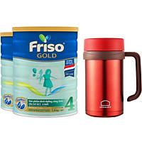 Bộ 2 Hộp Sữa Bột Friso Gold 4 1400g Dành Cho Trẻ Từ 2 - 6 Tuổi + Tặng Bình Giữ Nhiệt Lock and Lock (màu ngẫu nhiên)