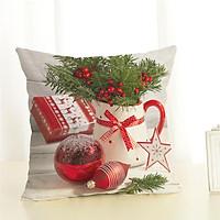 Christmas Series Cushion Cover Pillowcase Seat Sofa Pillow Cover Square Cushion Cover for Party Decoration