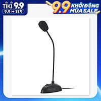 Flexible Stand Mini Studio Speech Microphone 3.5mm Plug Gooseneck Mic Wired Microphone for Computer PC Desktop Notebook