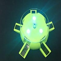 Đế trưng bày sản phẩm tự xoay 2 chiều NLMT, có 4 đèn LED- Sang trọng, tinh tế( Tặng móc khóa tô vít đa năng)