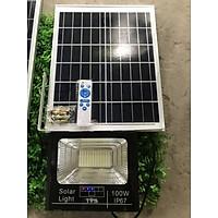 Đèn pha led năng lượng mặt trời 300w 200w 100w 60w báo dung lượng pin pha nhôm chống nước IP67